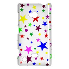 Stars Pattern Background Colorful Red Blue Pink Nokia Lumia 720