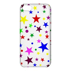 Stars Pattern Background Colorful Red Blue Pink Apple iPhone 5C Hardshell Case