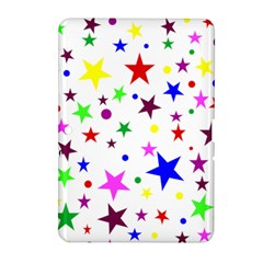Stars Pattern Background Colorful Red Blue Pink Samsung Galaxy Tab 2 (10.1 ) P5100 Hardshell Case