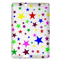 Stars Pattern Background Colorful Red Blue Pink Amazon Kindle Fire HD (2013) Hardshell Case