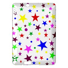 Stars Pattern Background Colorful Red Blue Pink Kindle Fire Hdx Hardshell Case