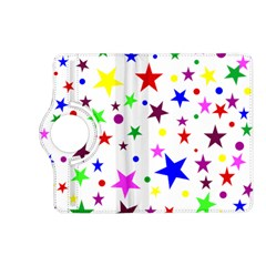 Stars Pattern Background Colorful Red Blue Pink Kindle Fire HD (2013) Flip 360 Case