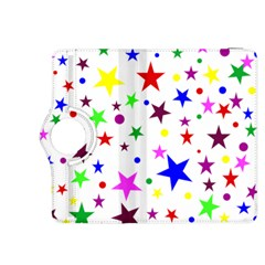 Stars Pattern Background Colorful Red Blue Pink Kindle Fire HDX 8.9  Flip 360 Case