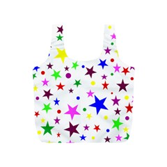 Stars Pattern Background Colorful Red Blue Pink Full Print Recycle Bags (S)
