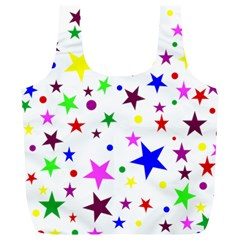 Stars Pattern Background Colorful Red Blue Pink Full Print Recycle Bags (l)