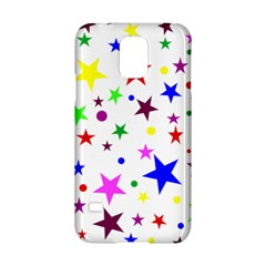 Stars Pattern Background Colorful Red Blue Pink Samsung Galaxy S5 Hardshell Case