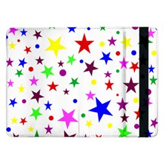 Stars Pattern Background Colorful Red Blue Pink Samsung Galaxy Tab Pro 12 2  Flip Case