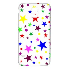 Stars Pattern Background Colorful Red Blue Pink Samsung Galaxy S5 Back Case (White)