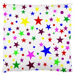 Stars Pattern Background Colorful Red Blue Pink Standard Flano Cushion Case (Two Sides)