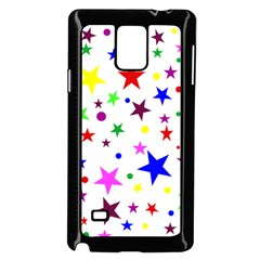 Stars Pattern Background Colorful Red Blue Pink Samsung Galaxy Note 4 Case (black)