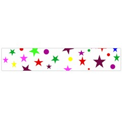 Stars Pattern Background Colorful Red Blue Pink Flano Scarf (Large)