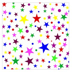 Stars Pattern Background Colorful Red Blue Pink Large Satin Scarf (Square)