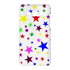 Stars Pattern Background Colorful Red Blue Pink Samsung Galaxy A5 Hardshell Case
