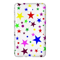 Stars Pattern Background Colorful Red Blue Pink Samsung Galaxy Tab 4 (8 ) Hardshell Case