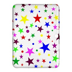 Stars Pattern Background Colorful Red Blue Pink Samsung Galaxy Tab 4 (10.1 ) Hardshell Case