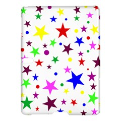 Stars Pattern Background Colorful Red Blue Pink Samsung Galaxy Tab S (10.5 ) Hardshell Case