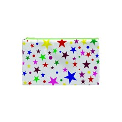 Stars Pattern Background Colorful Red Blue Pink Cosmetic Bag (XS)