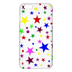 Stars Pattern Background Colorful Red Blue Pink iPhone 6 Plus/6S Plus TPU Case