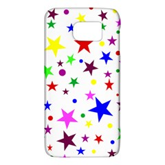 Stars Pattern Background Colorful Red Blue Pink Galaxy S6