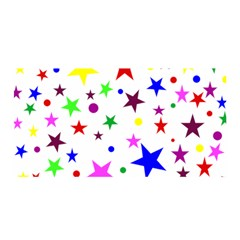 Stars Pattern Background Colorful Red Blue Pink Satin Wrap