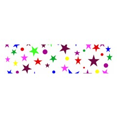 Stars Pattern Background Colorful Red Blue Pink Satin Scarf (oblong)