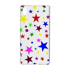 Stars Pattern Background Colorful Red Blue Pink Sony Xperia Z3+