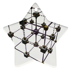 Grid Construction Structure Metal Ornament (Star)