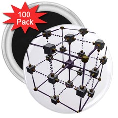Grid Construction Structure Metal 3  Magnets (100 pack)