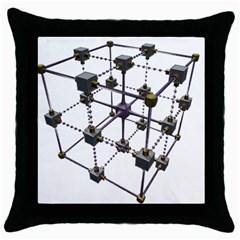 Grid Construction Structure Metal Throw Pillow Case (black)