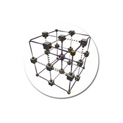 Grid Construction Structure Metal Magnet 3  (Round)