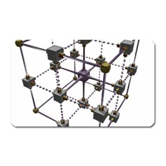 Grid Construction Structure Metal Magnet (Rectangular)
