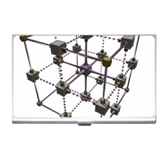 Grid Construction Structure Metal Business Card Holders