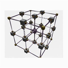 Grid Construction Structure Metal Small Glasses Cloth