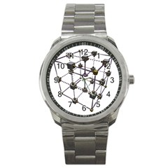 Grid Construction Structure Metal Sport Metal Watch