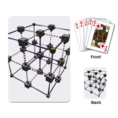 Grid Construction Structure Metal Playing Card