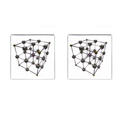 Grid Construction Structure Metal Cufflinks (Square)