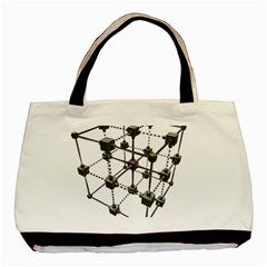 Grid Construction Structure Metal Basic Tote Bag