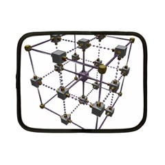 Grid Construction Structure Metal Netbook Case (Small)