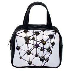 Grid Construction Structure Metal Classic Handbags (One Side)