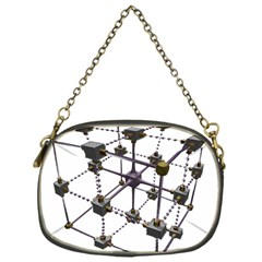 Grid Construction Structure Metal Chain Purses (One Side)