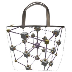 Grid Construction Structure Metal Bucket Bags