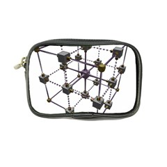 Grid Construction Structure Metal Coin Purse
