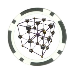 Grid Construction Structure Metal Poker Chip Card Guard (10 pack)