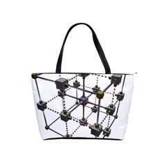 Grid Construction Structure Metal Shoulder Handbags