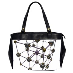 Grid Construction Structure Metal Office Handbags (2 Sides)