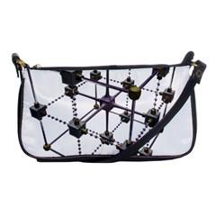Grid Construction Structure Metal Shoulder Clutch Bags