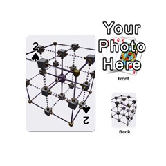 Grid Construction Structure Metal Playing Cards 54 (Mini)