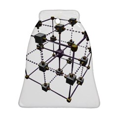 Grid Construction Structure Metal Bell Ornament (Two Sides)