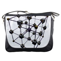 Grid Construction Structure Metal Messenger Bags