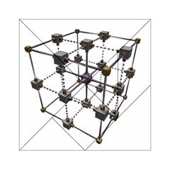 Grid Construction Structure Metal Acrylic Tangram Puzzle (6  x 6 )
